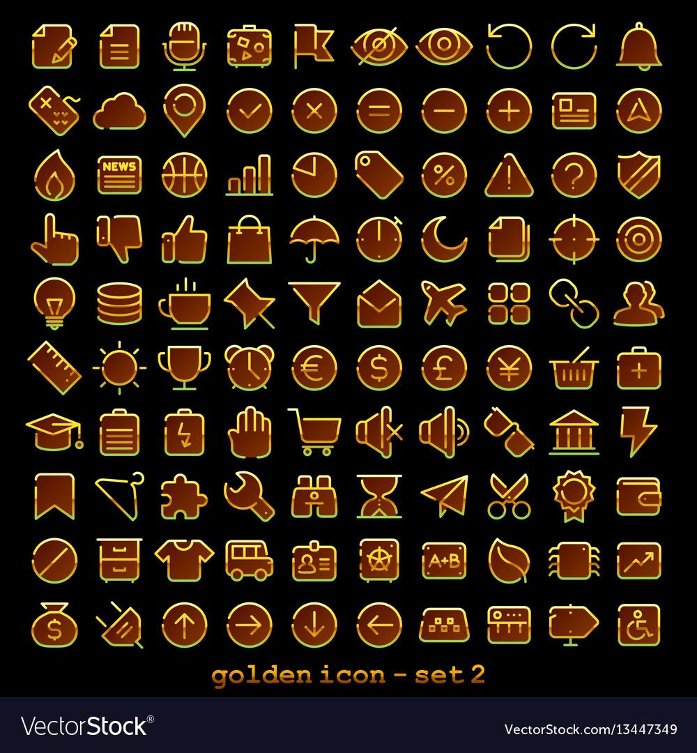 Golden line web icon - set 2