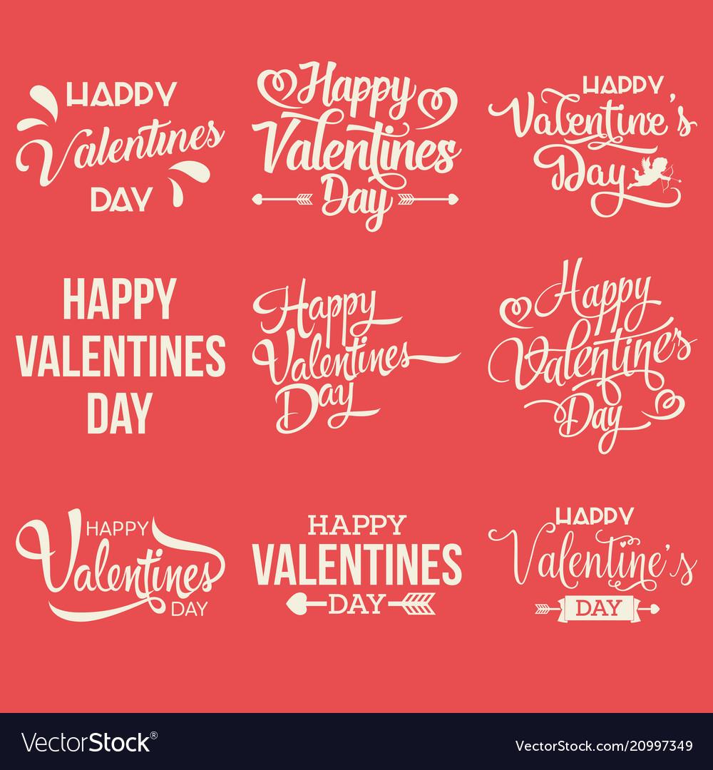 Happy valentine day handwritten collection