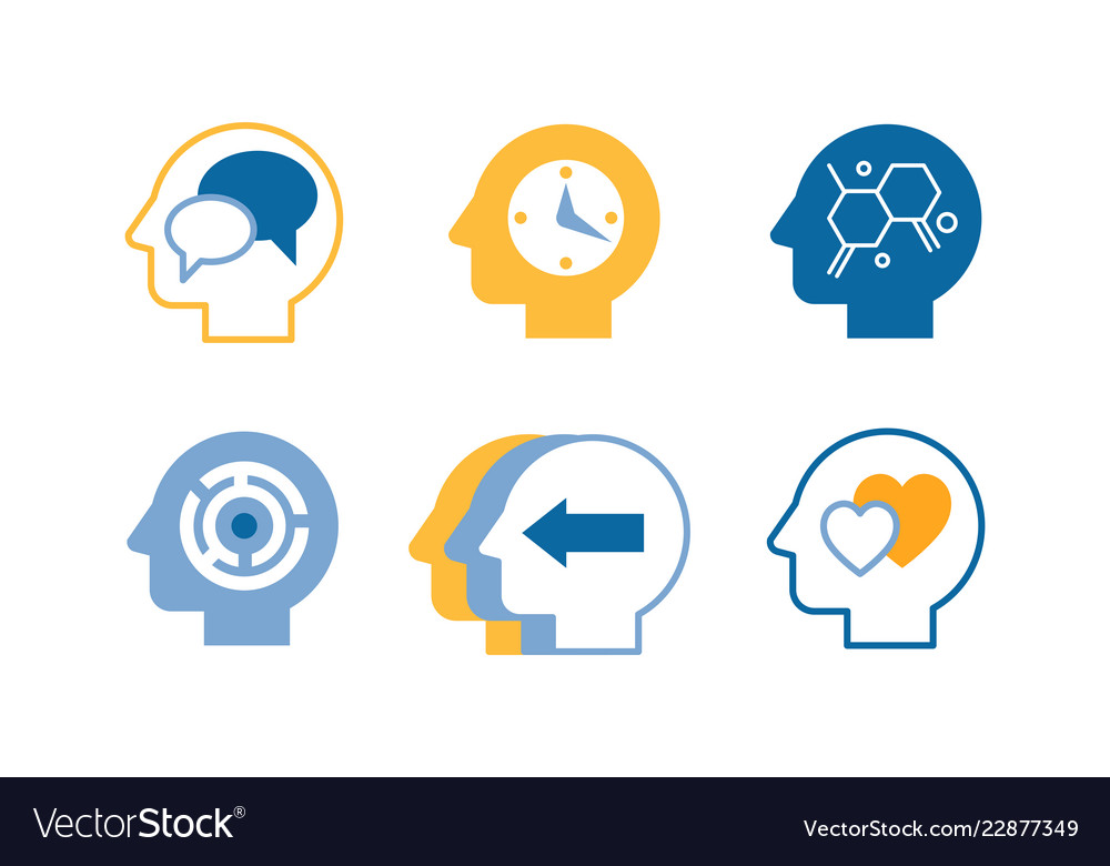 Head silhouettes with ideas in their heads human