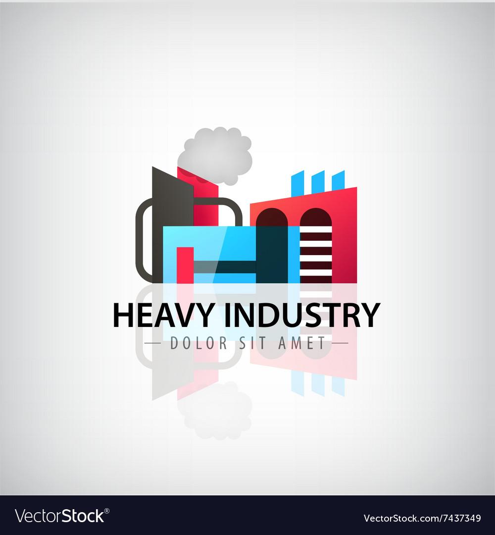 Heavy industry building logo icon