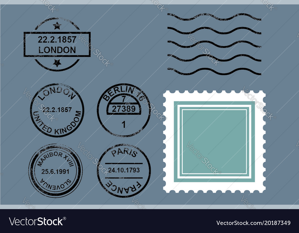 Rubber postal stamps
