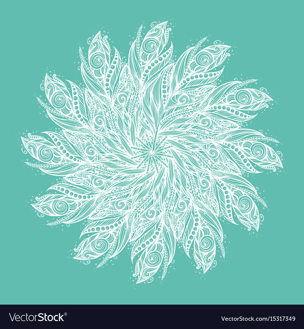 Template greeting card or invitation with feathers vector image