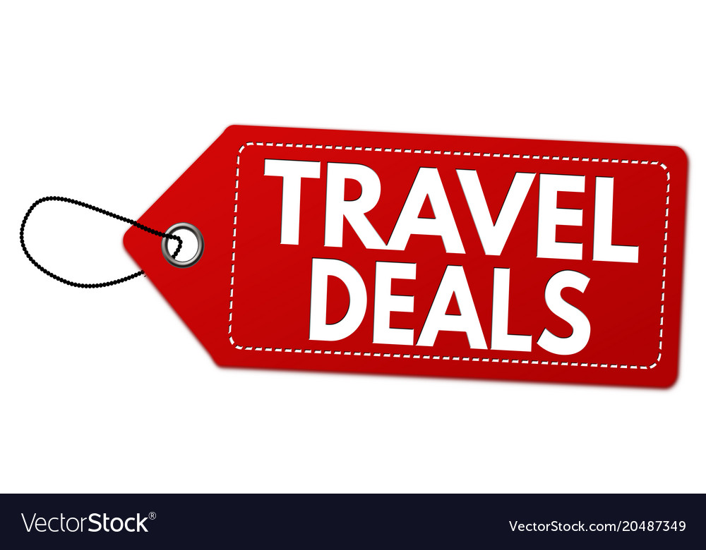 Travel Deals Label Or Price Tag Vector Image