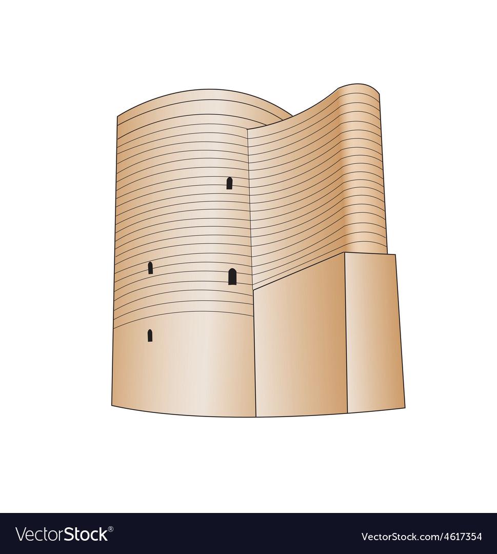 Maiden tower baku vector image