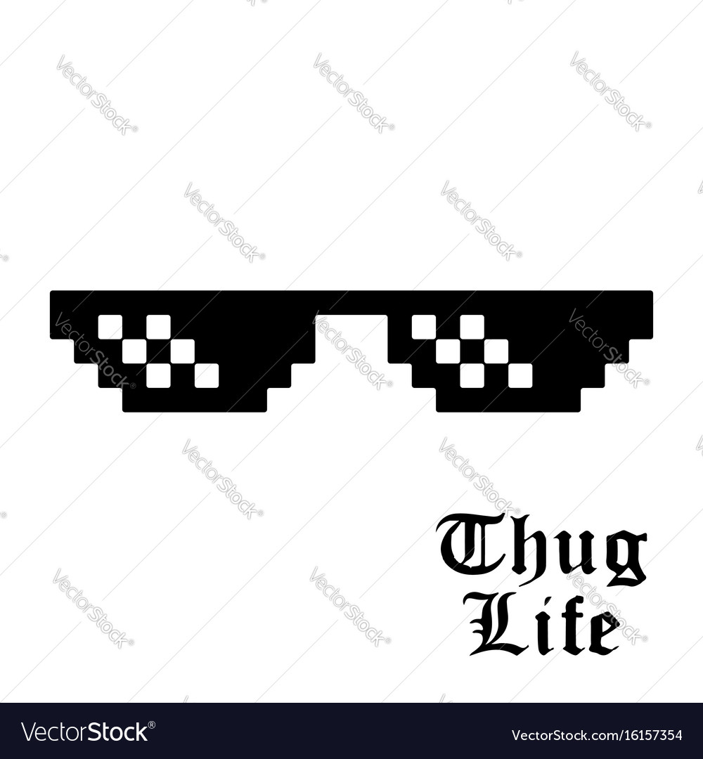 Pixel glasses isolated
