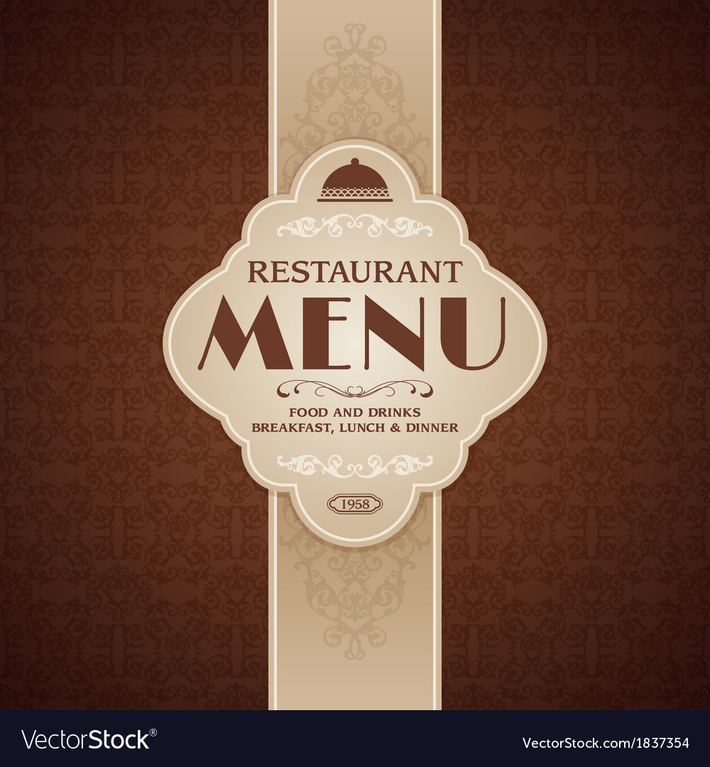 Restaurant Cafe Menu Brochure Template Royalty Free Vector - Menu brochure template