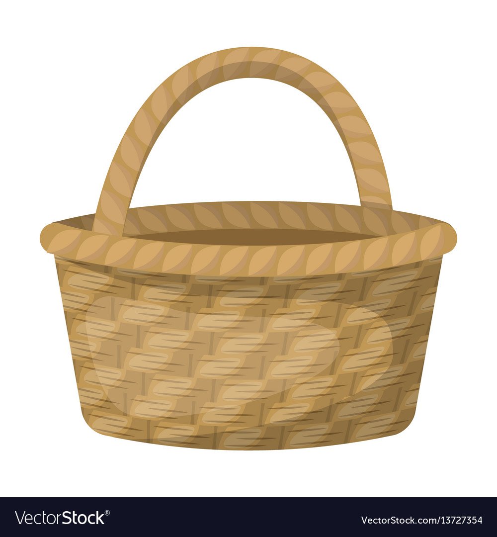 1b482108f5ec Straw basket for carrying fruits and vegetables in vector image
