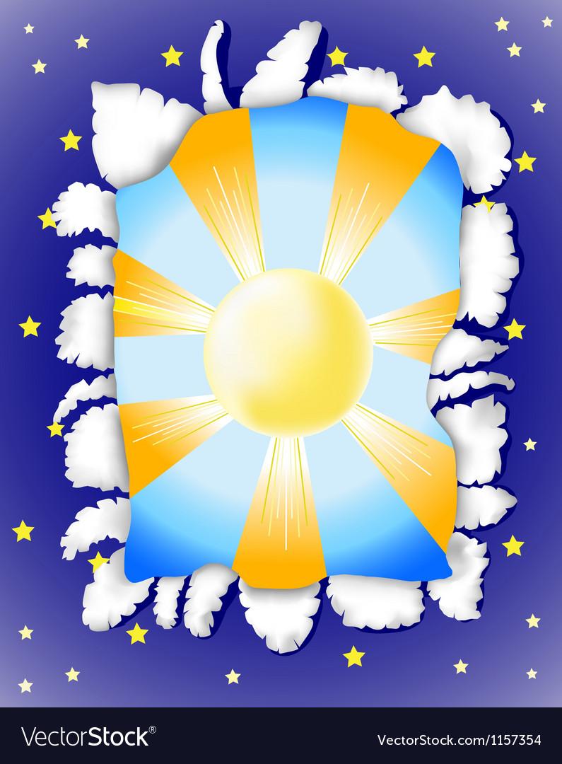 Sunny day and dark night vector image