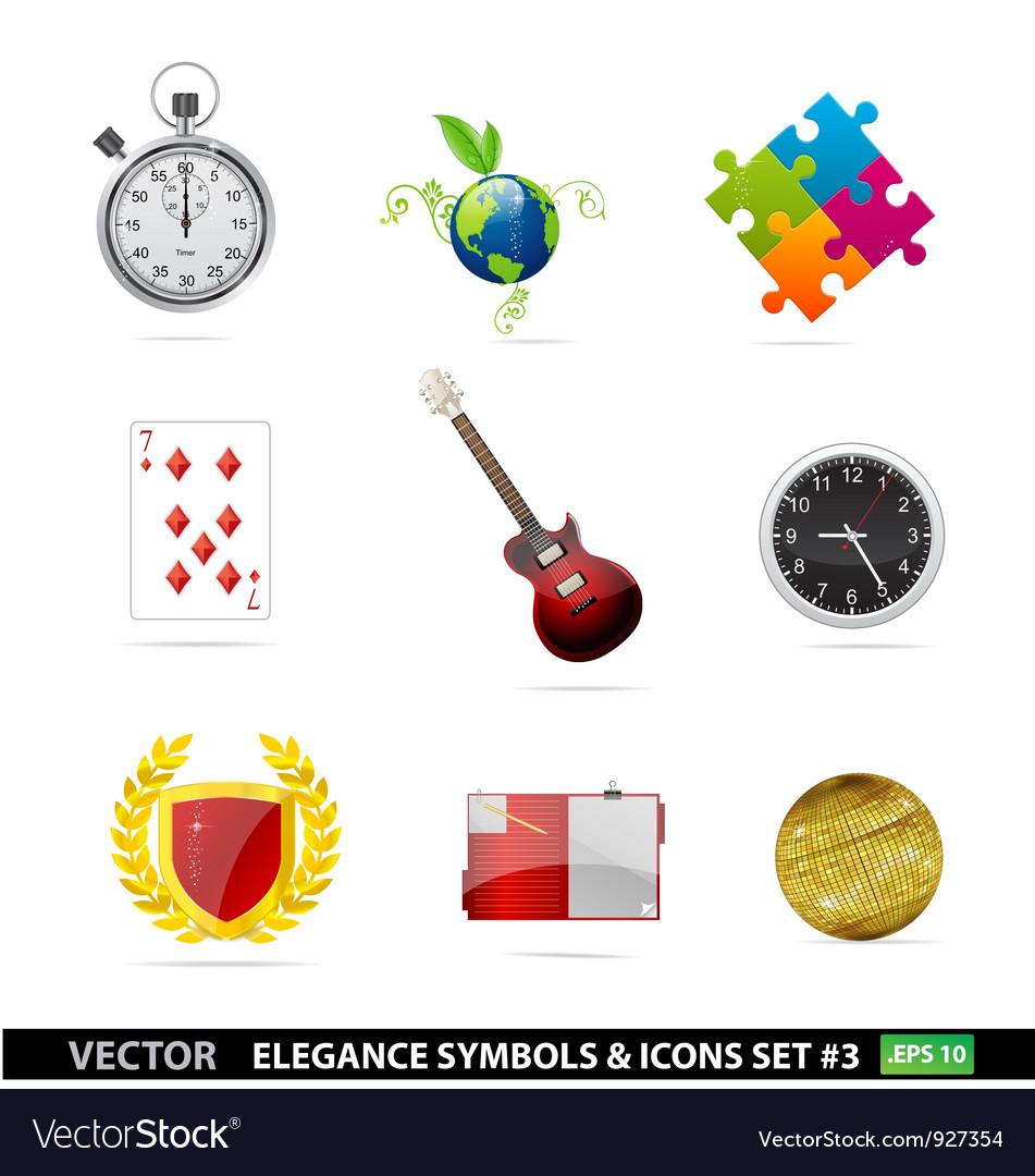 Web and creative graphic symbols set