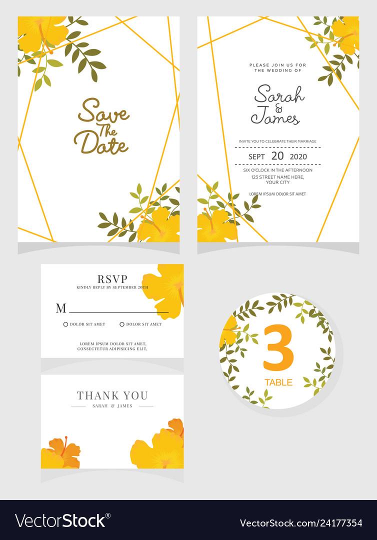 Wedding Invitation Card Template Vector Image On Vectorstock