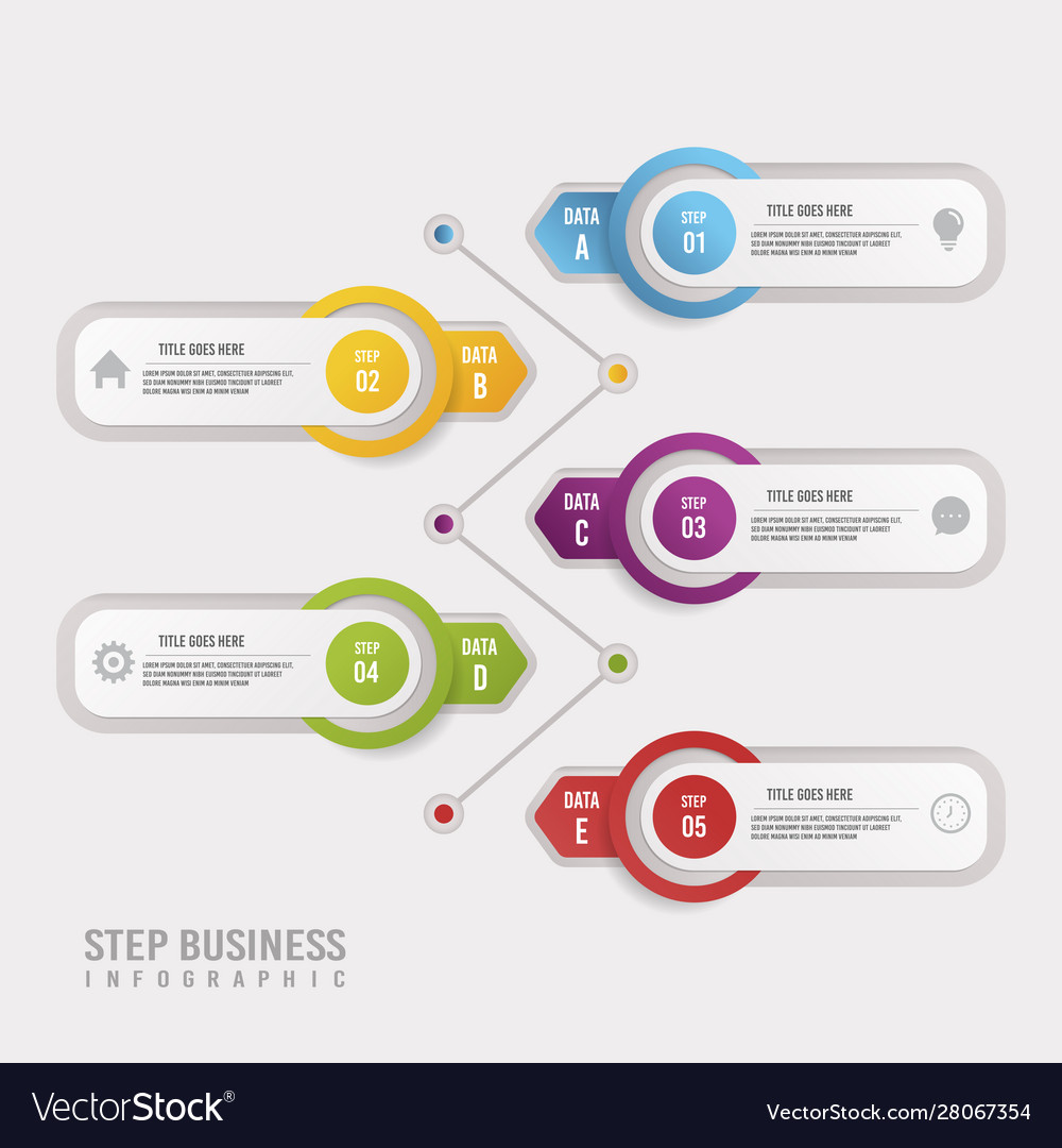 White step business infographic design