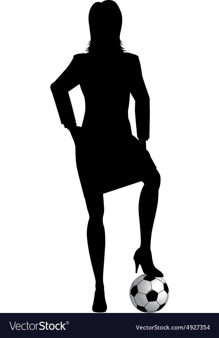 Woman footballer vector image