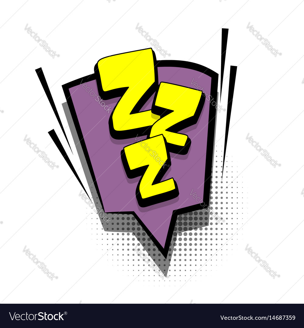 Comic Book Text Bubble Advertising Zzz Royalty Free Vector By brandon sheffield and dami lee. vectorstock