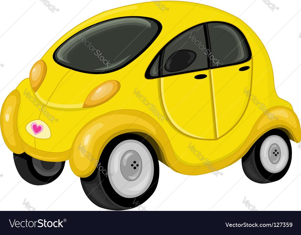 Cute car vector image