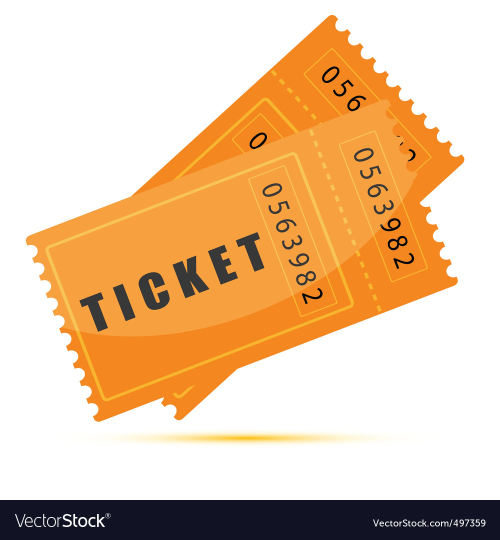 Movie tickets vector image