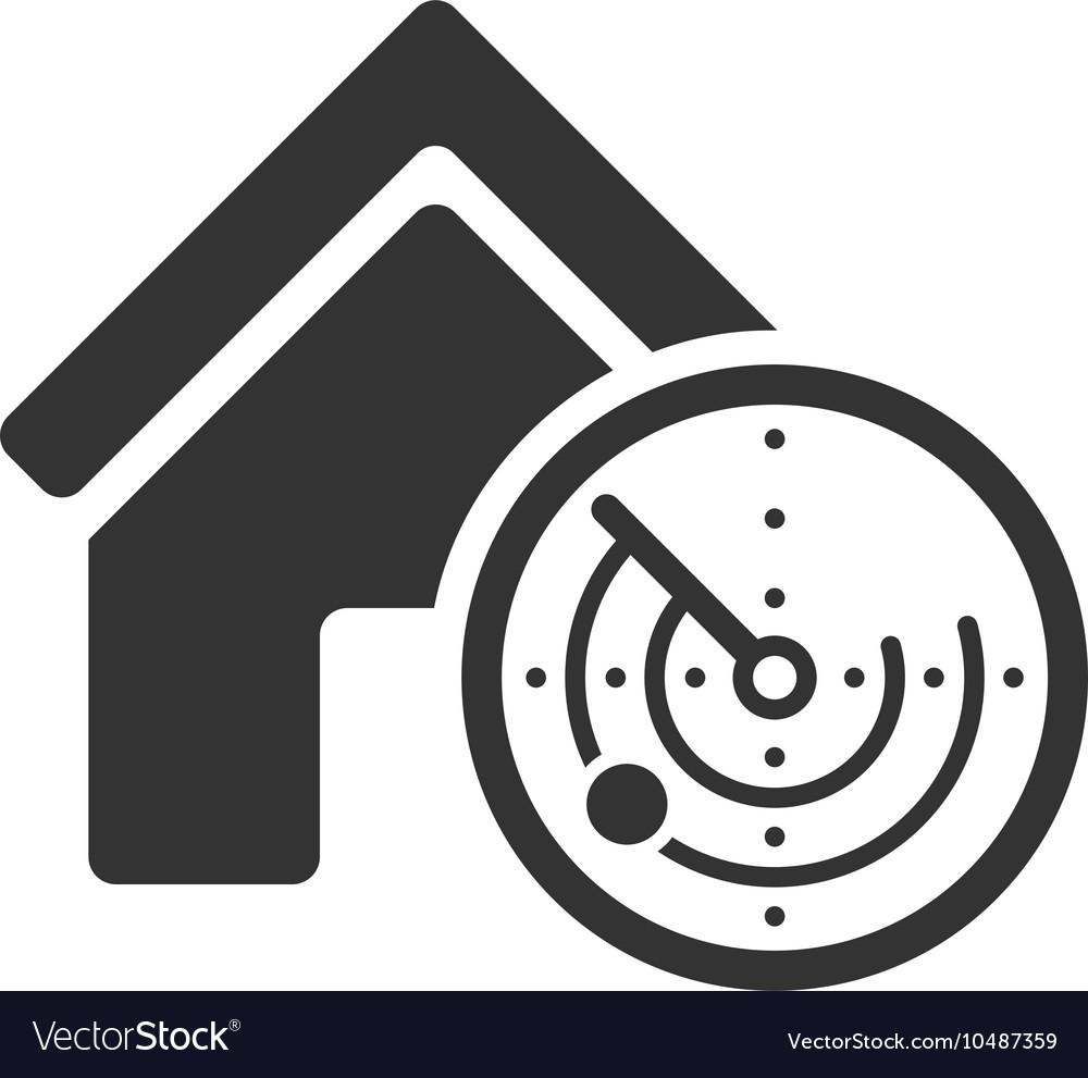 Realty Radar Flat Icon