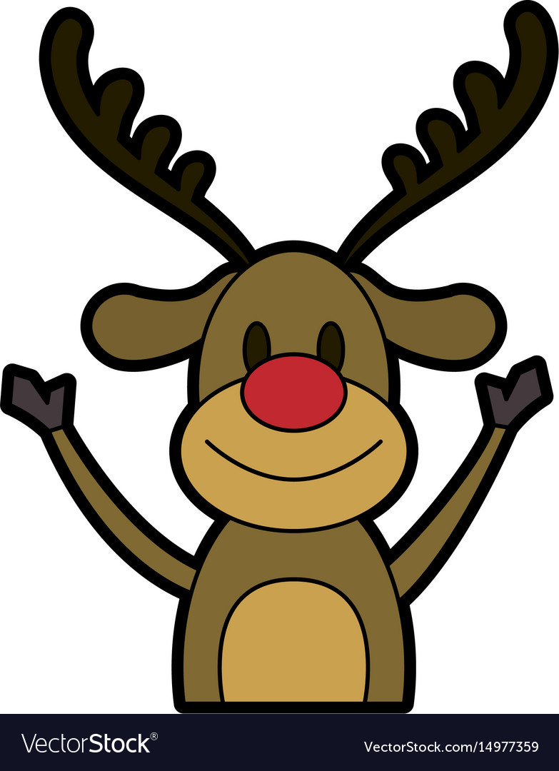 Rudolph The Red Nose Reindeer Christmas Character Vector Image,Baby Drawer Organizer Ikea