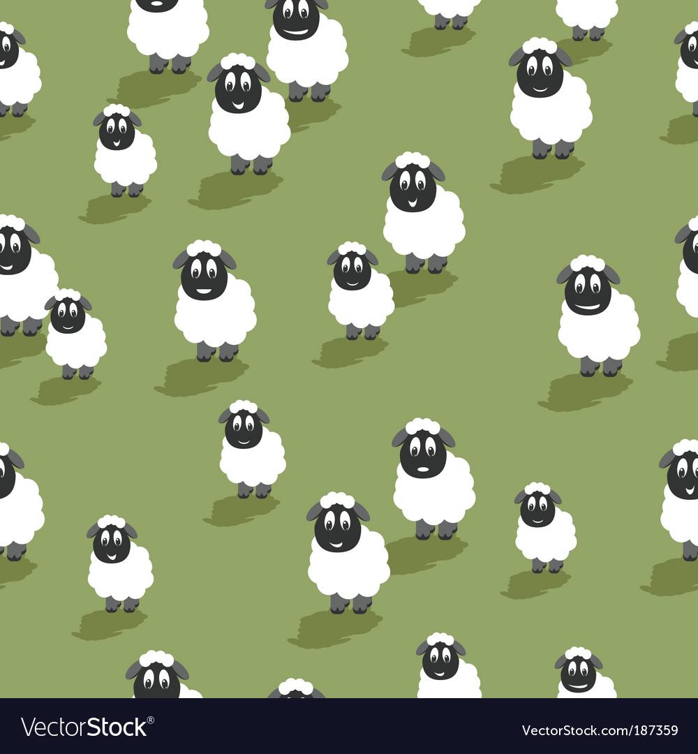 Seamless sheep vector image