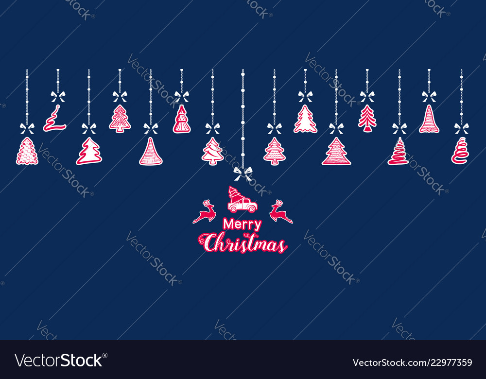 Hanging Christmas Ornaments Silhouette.Silhouette Paper Christmas Ornaments Hanging Vector Image On Vectorstock