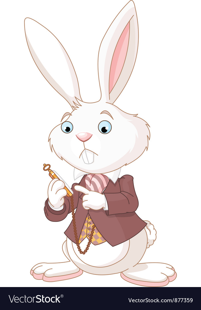 White Rabbit with pocket watch vector image