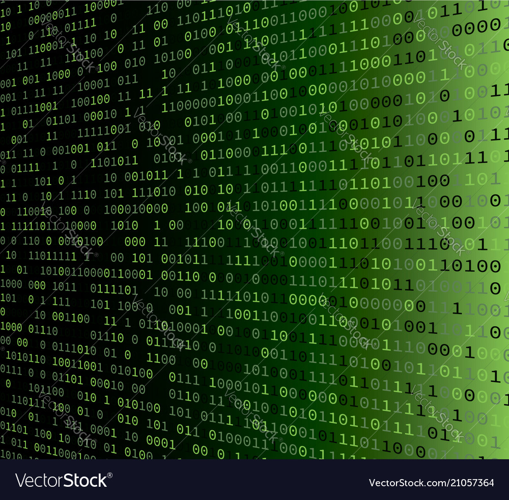 Background With Binary Code Royalty Free Vector Image