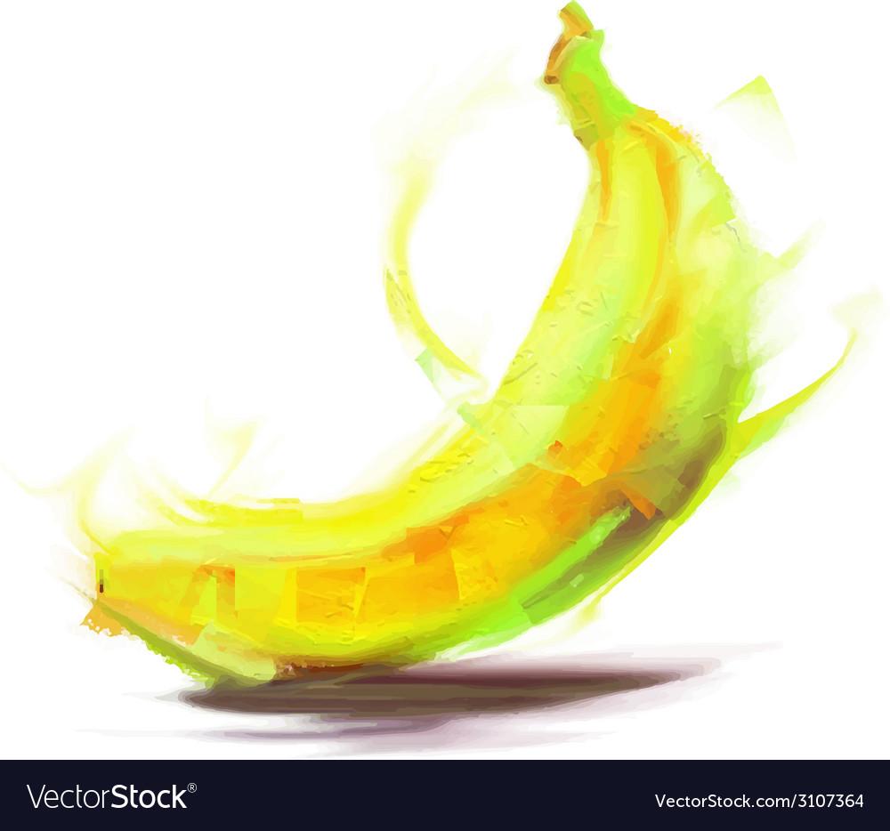 Drawing Banana Royalty Free Vector Image Vectorstock