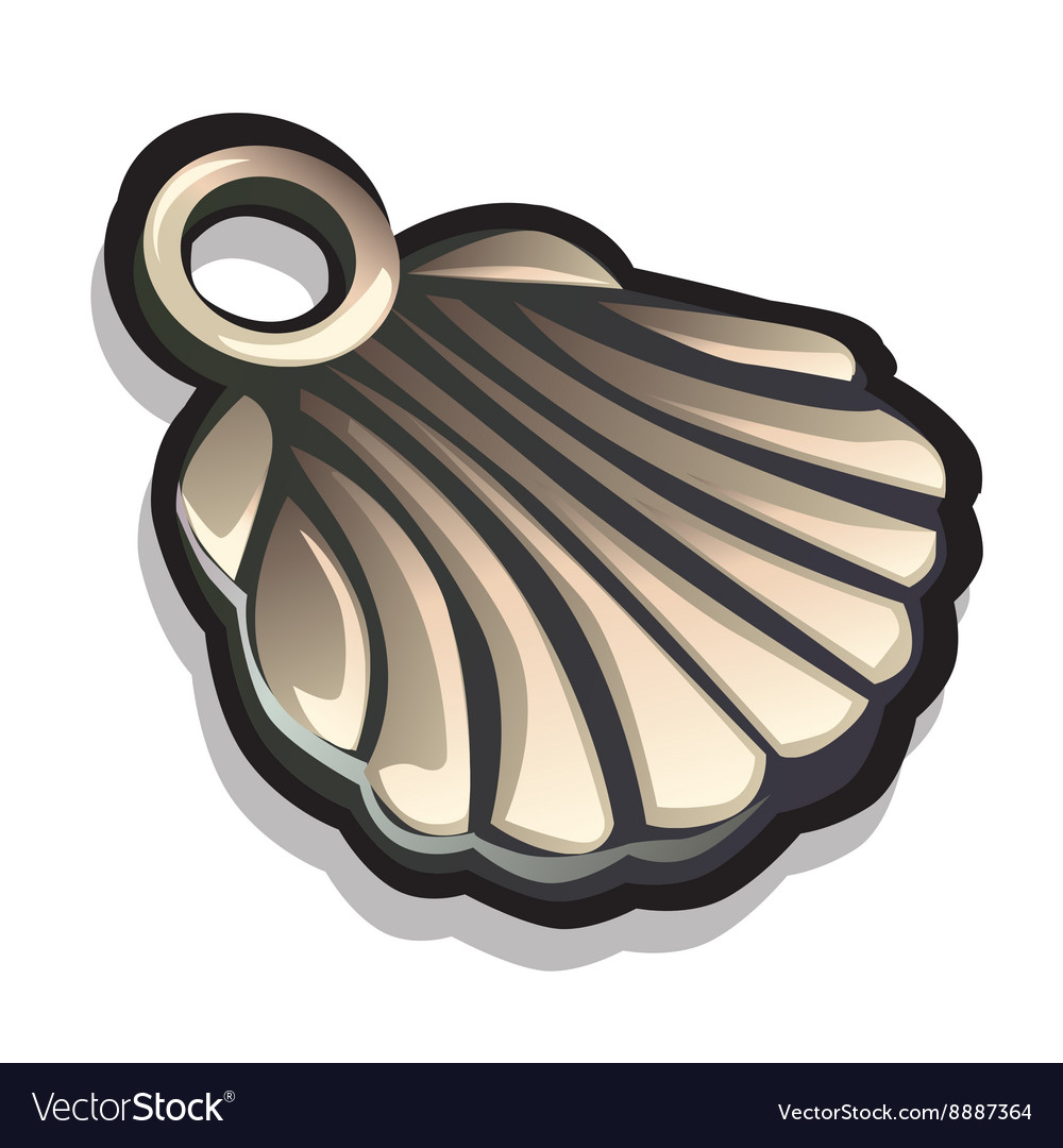 Metal pendant in the shape of seashells Accessory