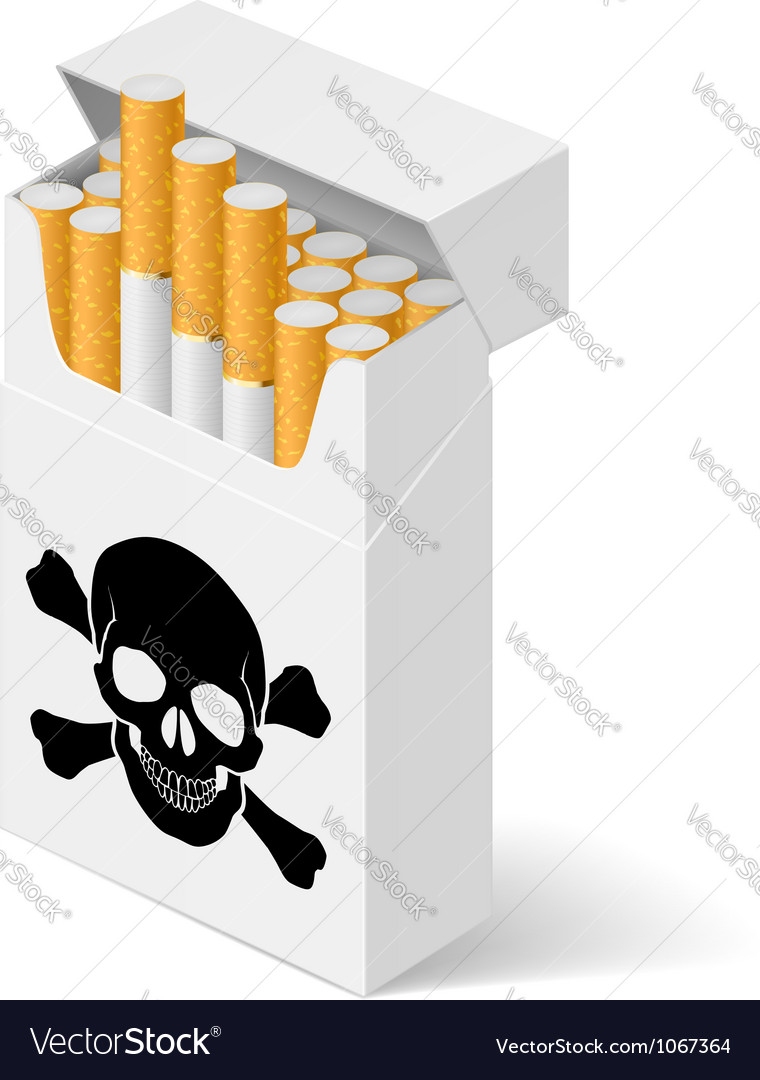 Pack cigarettes with black