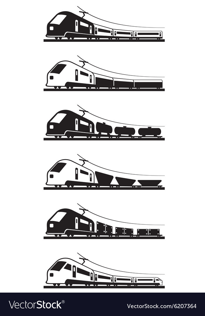 Passenger and freight trains