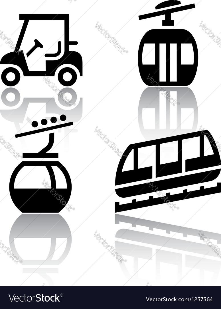 Set of transport icons - Recreation