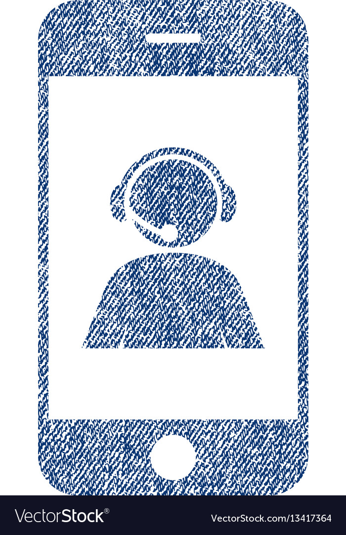 Smartphone operator contact portrait fabric