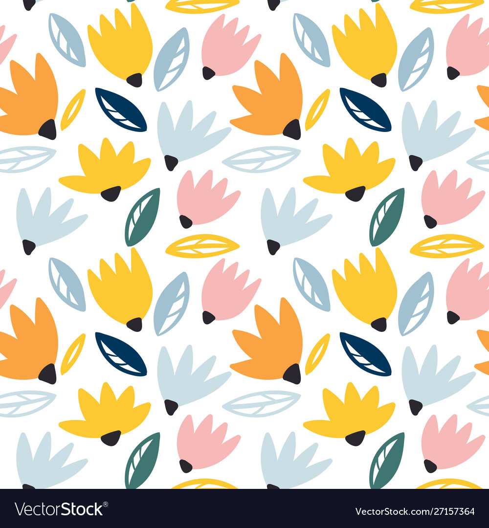 Trendy seamless floral pattern perfect for