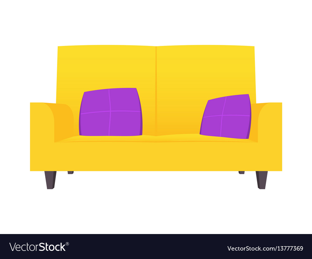 Abstract creative funny cartoon sofa set isolated