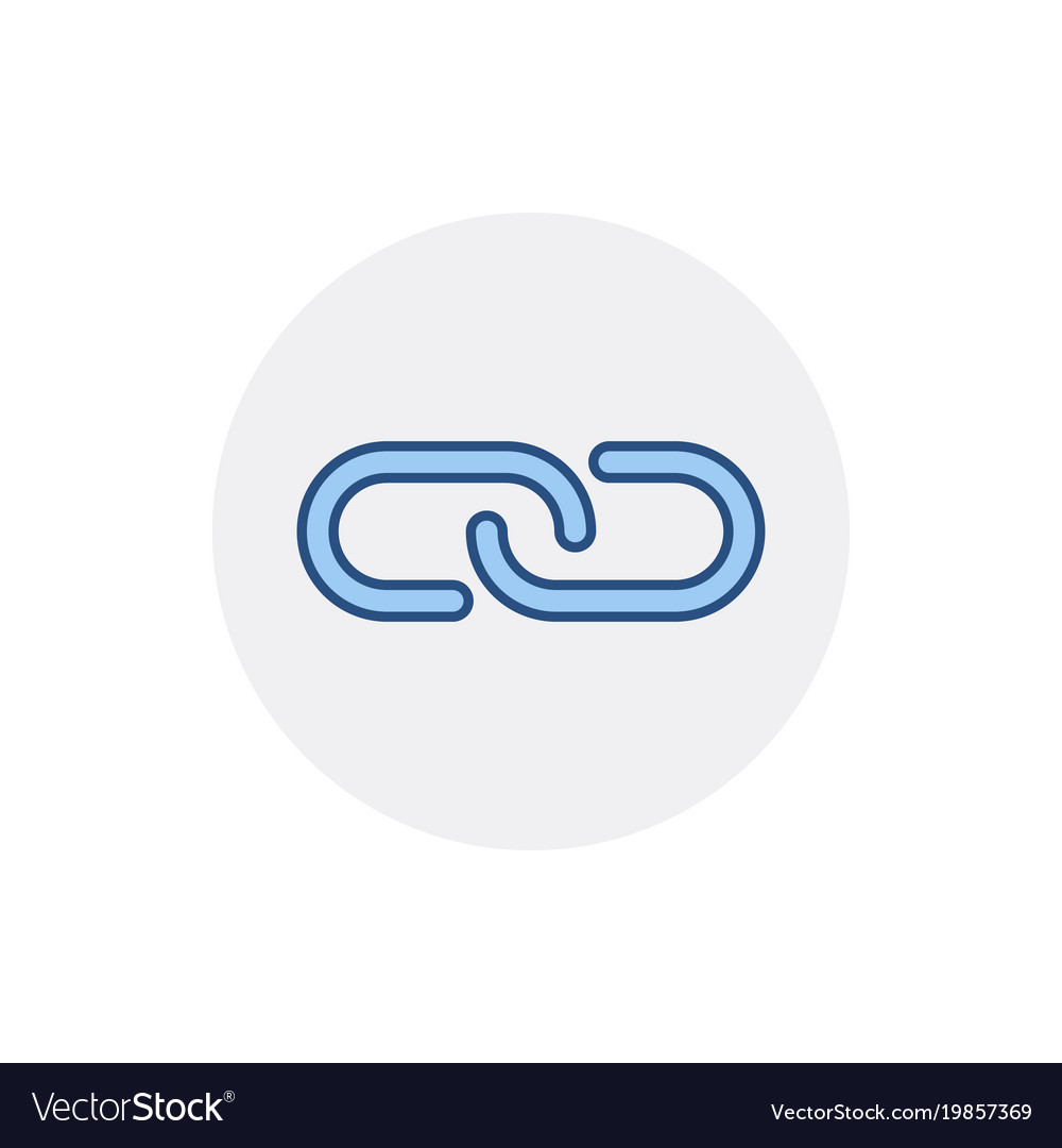 Chain Hyperlink Internet Link Web Icon Royalty Free Vector