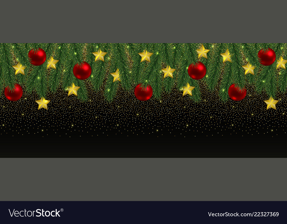 Christmas and new year web banner with glitter and