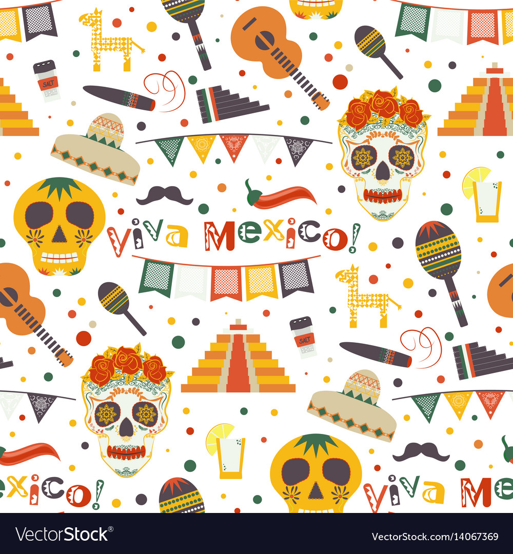 Cinco de mayo seamless pattern with