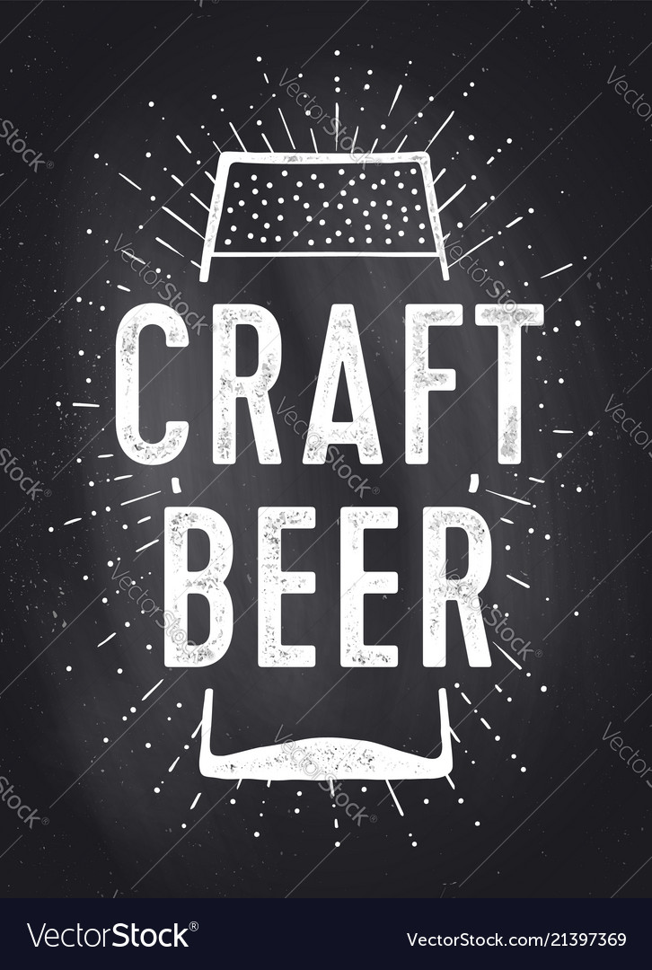 Craft beer poster or banner