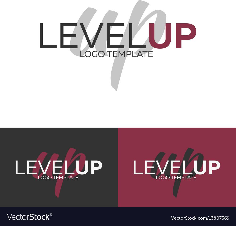 Level up logo logo template logotype