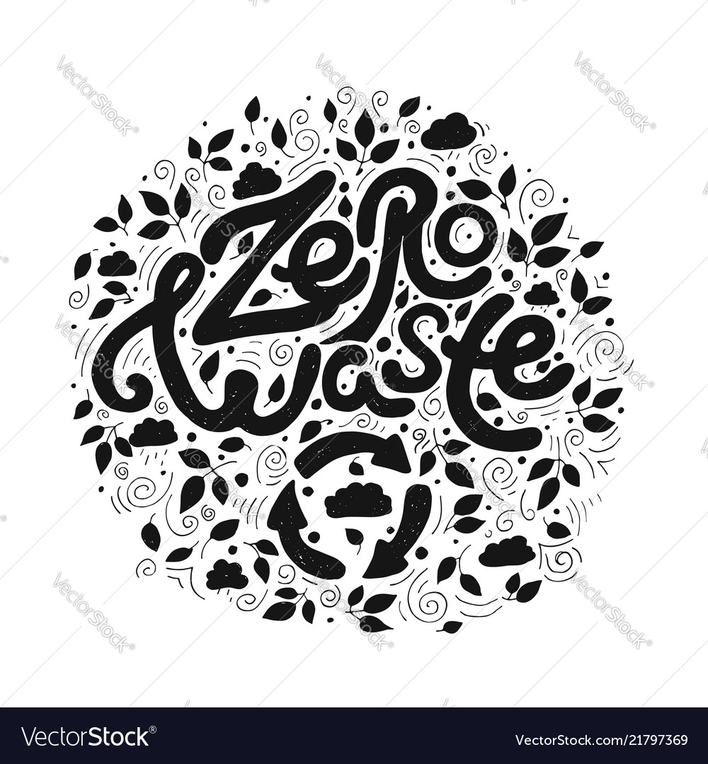 Save the planet zero waste black and white