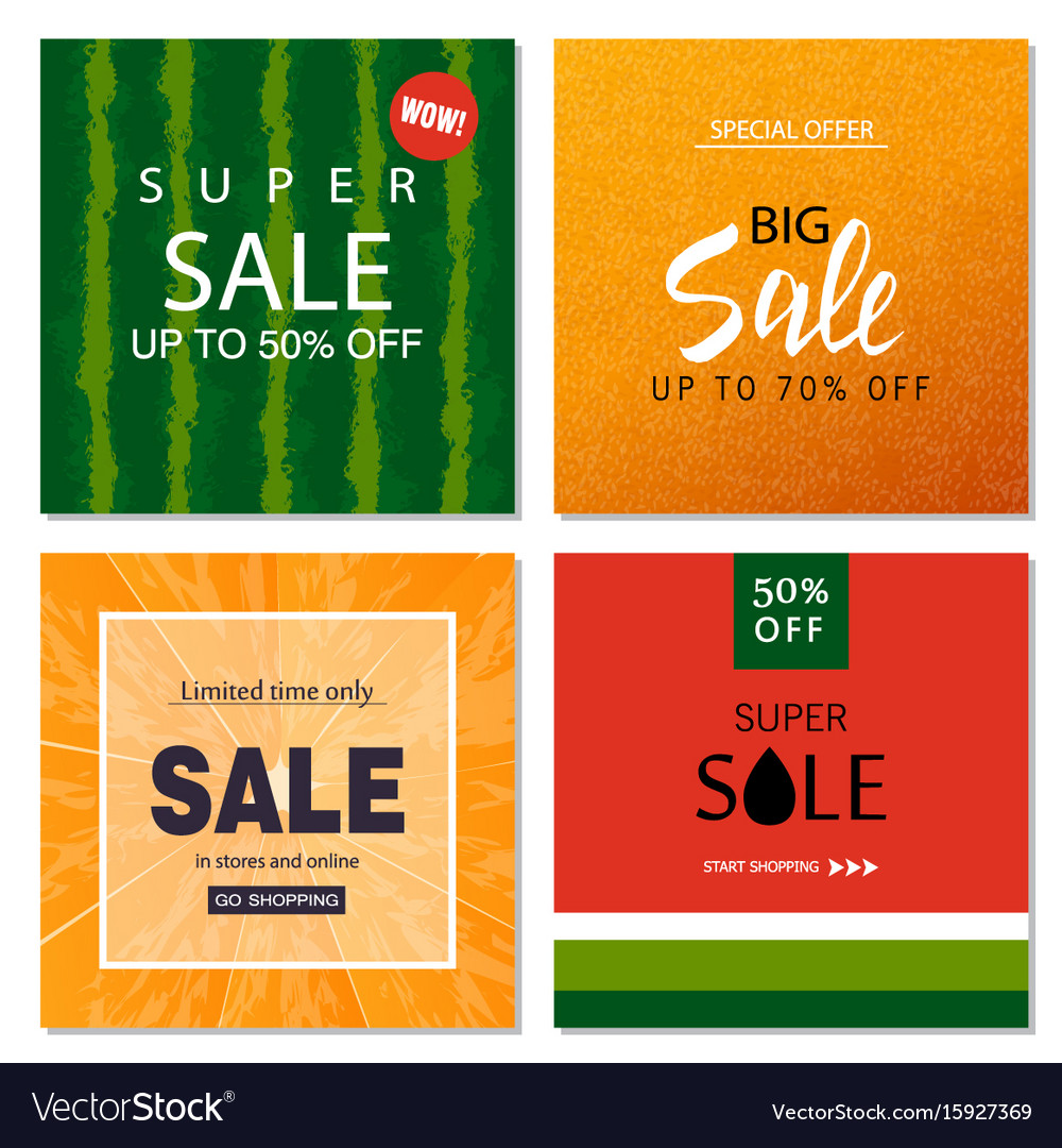 Set Of Sale Banner Templates Royalty Free Vector Image