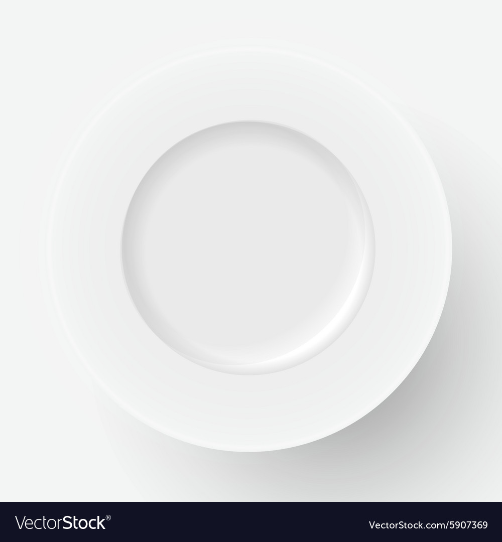 White plate icon vector image