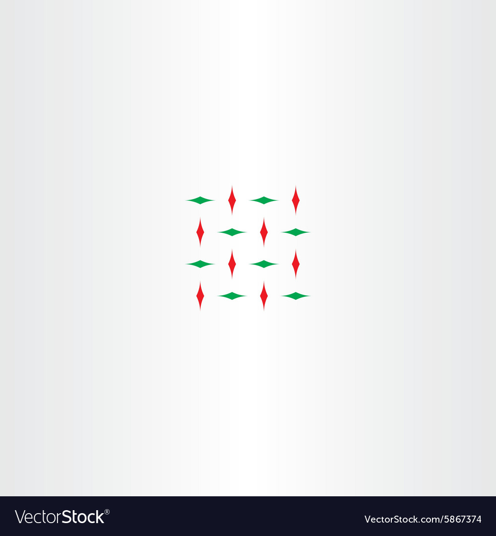Abstract red green square