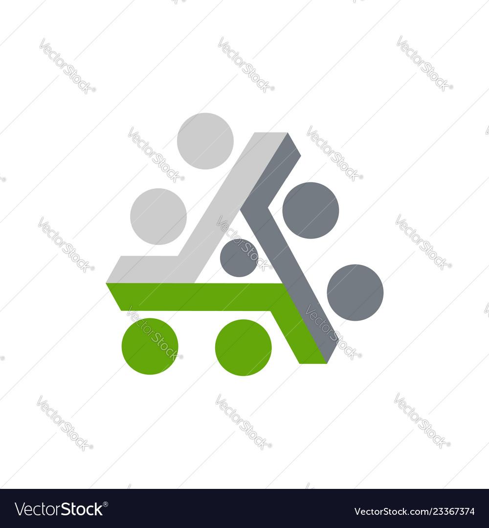 Abstract triangle logo creative media play logo