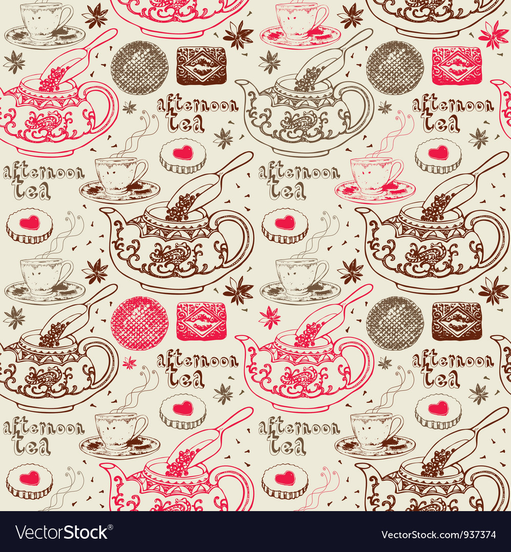 Afternoon Tea Background Pattern