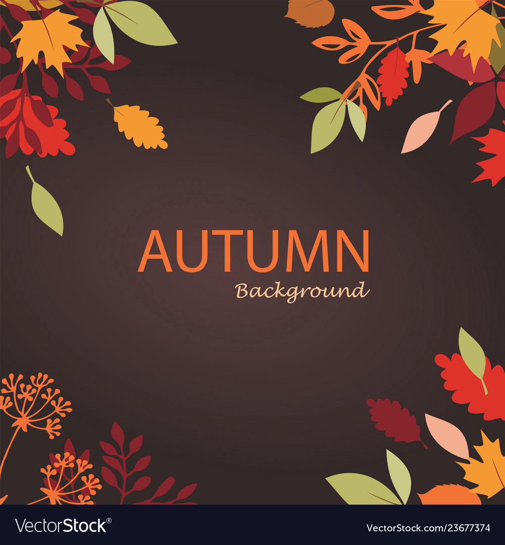 Autumn leaves stylized background autumn seasonal