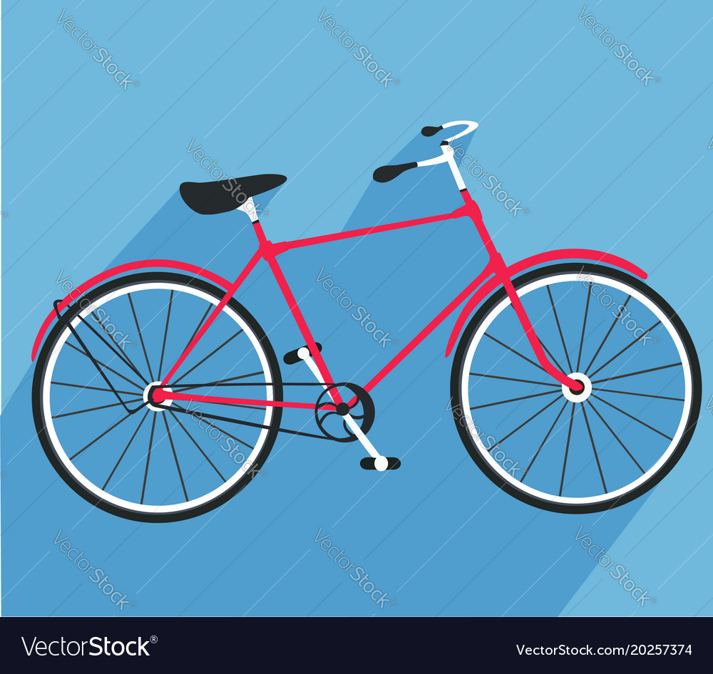 Bicycle made in flat style bike icon
