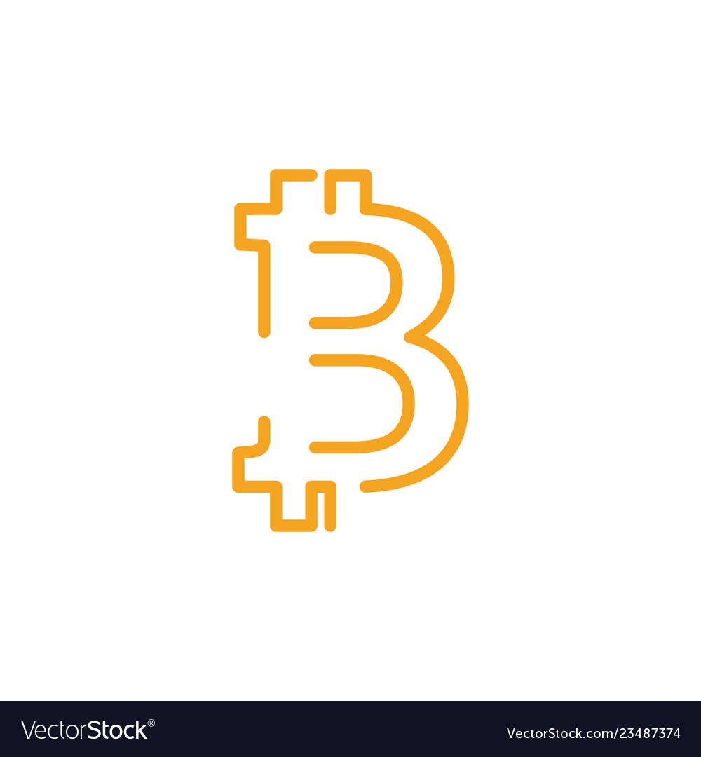 Bitcoin icon graphic design template