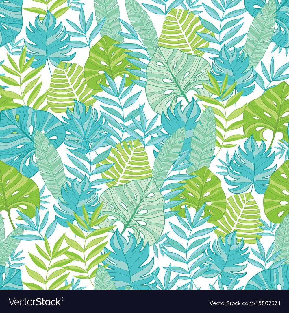 Blue green tropical leaves summer hawaiian