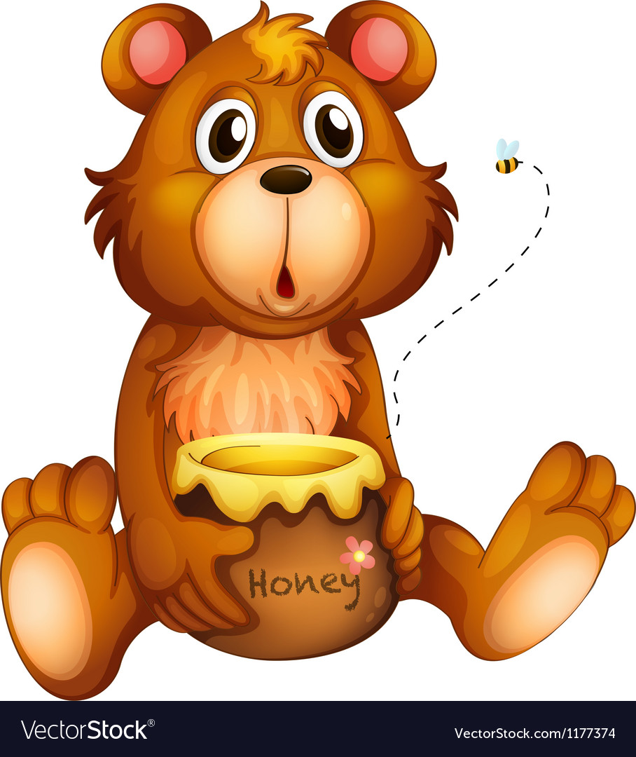Cartoon Honey bear