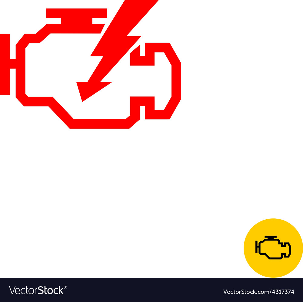 Check engine sign vector image